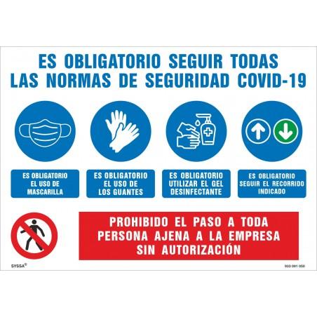 Covid-19 Cartel Informativo Empresas Normas Seguridad ante Covid-19