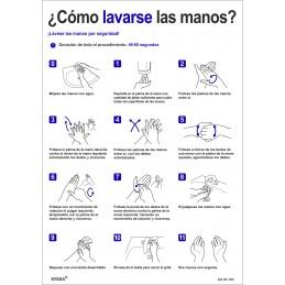 SYSSA - Tienda Online -  Señal Como lavarse las manos para Prevención Covid-19