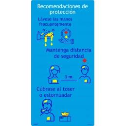 SYSSA - Tienda Online -  Adhesivo normas a seguir protección - Covid-19