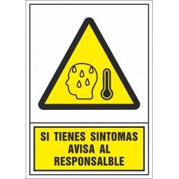 SYSSA - Botiga Online - Si tens símptomes de febre avisa el responsable - Covid-19