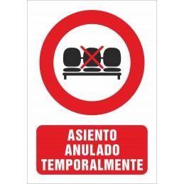 SYSSA - Tienda Online -  COVID-19 Señal de Asiento anulado temporalmente