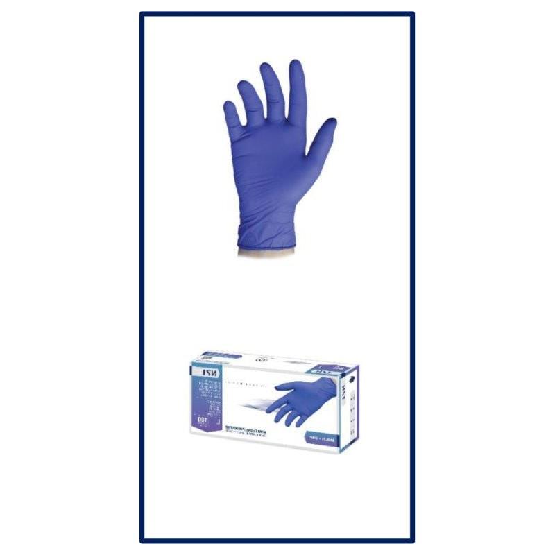 CVDGN-Guantes de Nitrilo Hipoalergénico sin polvo (caja de 100 Unidades) - Protección Covid-19