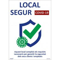 COVID-19 Senyal de local Segur