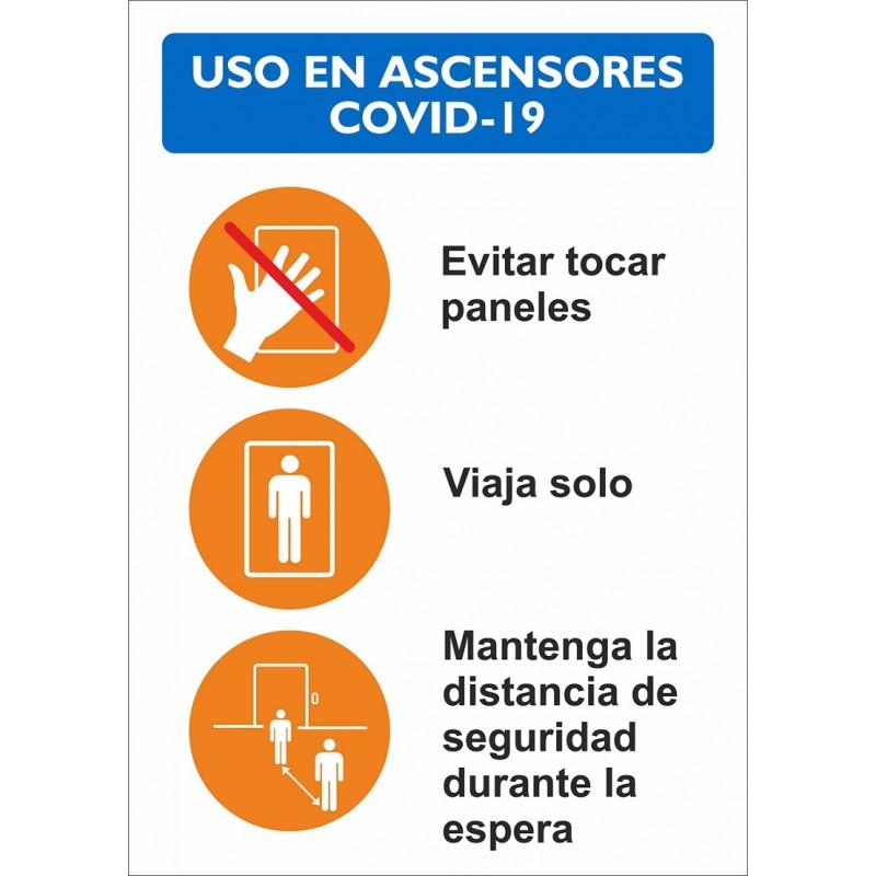CVDNUA-Normas Uso Ascensor - Señalización Covid-19