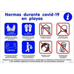SYSSA - Tienda Online -  Covid-19 Cartel Normas en las playas