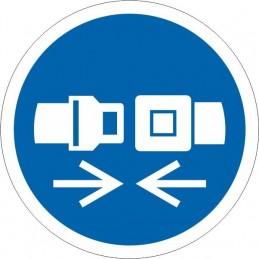 SYSSA - Tienda Online - Señal Es Obligatorio el uso de cinturón de seguridad