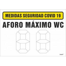 SYSSA - Tienda Online -  Señal Aforo Máximo WC para Prevención Covid-19