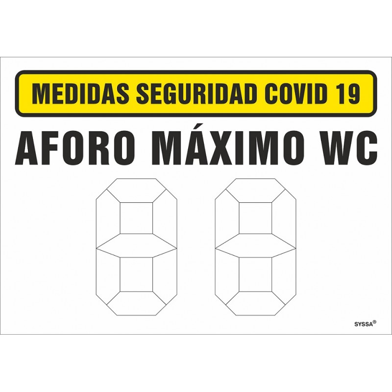 CVDAML-Covid-19 Señal de Aforo máximo WC