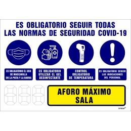 SYSSA - Tienda Online -  Señal Aforo Máximo Sala para Prevención Covid-19