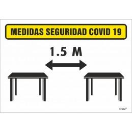 SYSSA - Tienda Online -  SEÑAL de Distancia de 1,5 m. entre mesas para Prevención Covid-19
