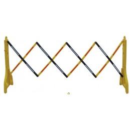 SYSSA - TIENDA ONLINE - Valla extensible de plástico Amarillo/Negro