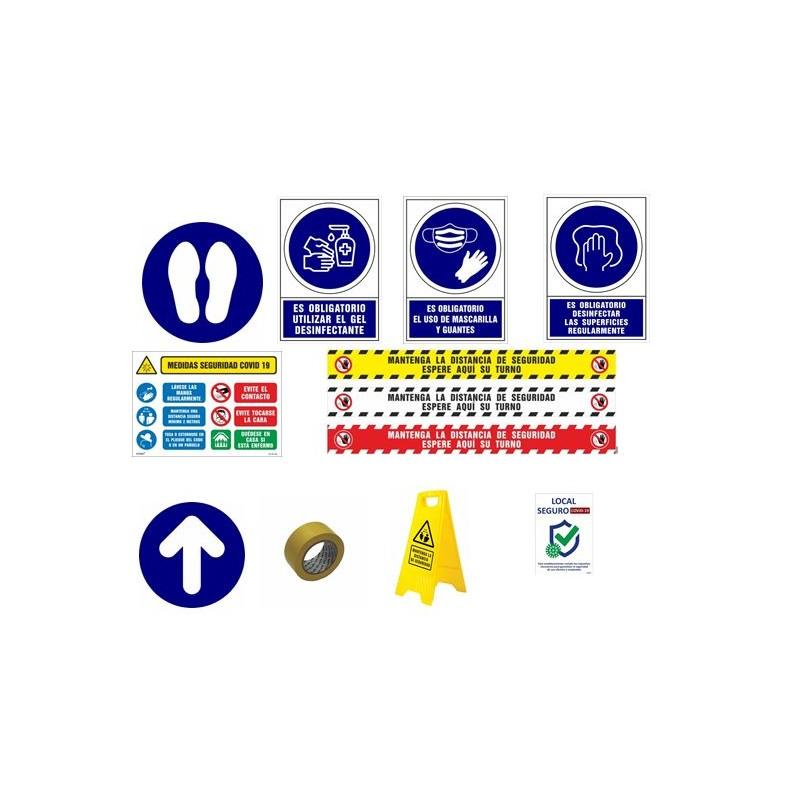 CVDPACK01-PACK SEÑALES INFORMACIÓN - Señalización COVID-19