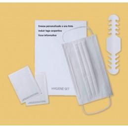SYSSA - Tienda Online -  Pack Higiénico-1 Mascarilla- 2 Toallitas-1ajustador, bolsa personalizable - Protección Covid-19