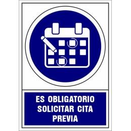 Señalización Covid-19 - SYSSA - Tienda Online -  Señal Covid-19 Obligatorio solicitar cita previa