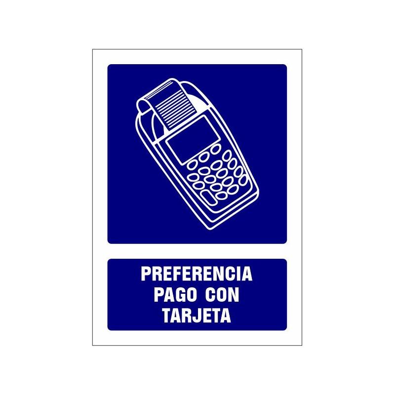 CVD415-Señalizacion Covid-19 - Preferencia pago con tarjeta