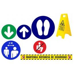 SYSSA - Señalización COVID-19 - TIENDA ONLINE - PACK SEÑALES DISTANCIAS DE SEGURIDAD