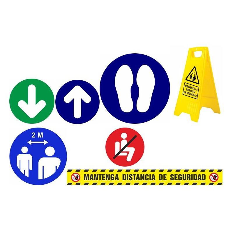CVDPACK03-Señalización COVID-19 - PACK SEÑALES - DISTANCIA SEGURIDAD