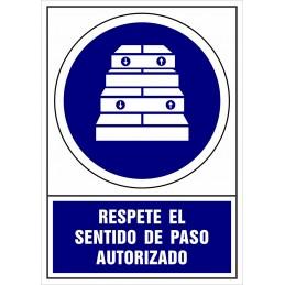 Señalización Covid-19 - SYSSA - Tienda Online -  Señal Covid-19 Obligación de Respetar el sentido de paso autorizado