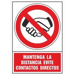 SYSSA - Tienda Online -  Señalización COVID-19 Mantenga la distancia evite contactos directos