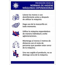 Señalizacion Covid-19 - Normas Máquinas Expendedoras - SYSSA - Tienda Online