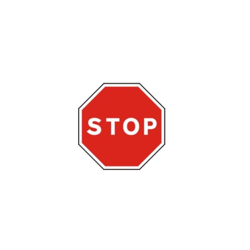R2-Señal Vial STOP - Detención obligatoria- Referencia R2 MOPT