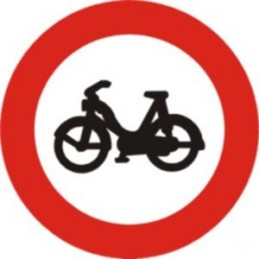 Señal Vial Entrada prohibida ciclomotores - Referencia R105 TIPO MOPT
