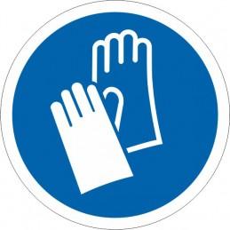 SYSSA - Señal Es obligatorio el uso de los guantes
