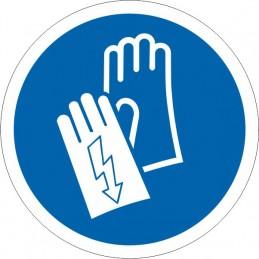 SYSSA - Señal Es obligatorio el uso de los guantes aislantes