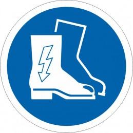 SYSSA - Señal Es obligatorio el uso de las botas aislantes
