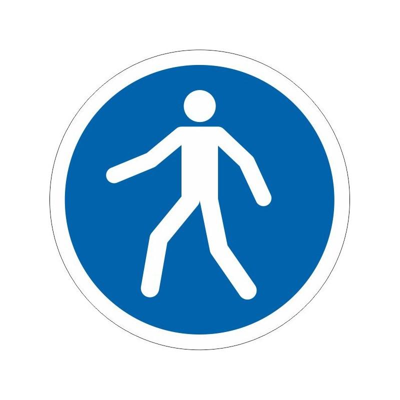 CH-Disco Vía obligatoria para peatones - Referencia CH