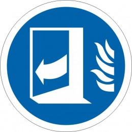 SYSSA Señalizacion  - Señal Puerta corta fuegos cerrar después de utilizar