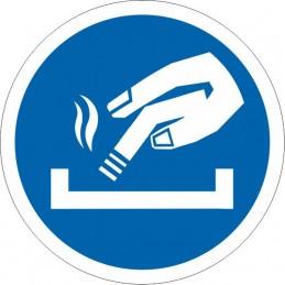 SYSSA Señalizacion - Obligatorio apagar el cigarro a partir de aquí - Referencia UAC