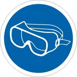 SYSSA Señalización - Señal Es obligatorio el uso de gafas antisalpicadura