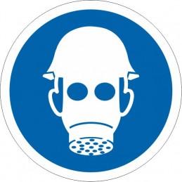 SYSSA Señalización - Señal Es obligatorio el uso de casco y máscara