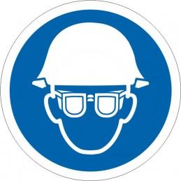 SYSSA Señalización - Señal Es obligatorio el uso de casco y gafas