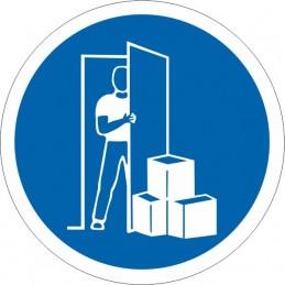 SYSSA Señalización - Señal No obstruir la puerta