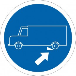 SYSSA Señalización - Señal Es obligatorio calzar el camión