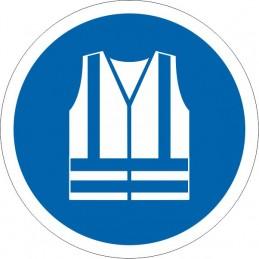 SYSSA Señalización - Señal Es obligatorio el uso del chaleco de seguridad