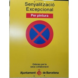 SYSSA - Tienda Online - Señal Excepcional por pinturas, Ayuntamiento de Barcelona