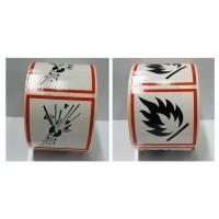 SYSSA - Tienda Online - Rollos de etiquetas ADR adhesivas 50x50 mm